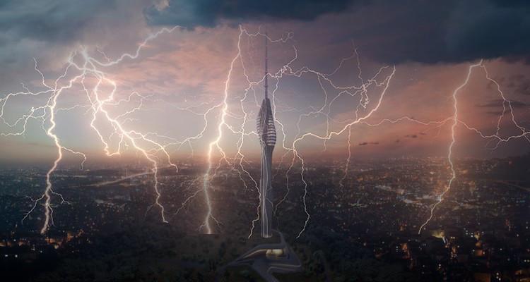 Çamlıca TV Kulesi Yıldırımdan Korunma
