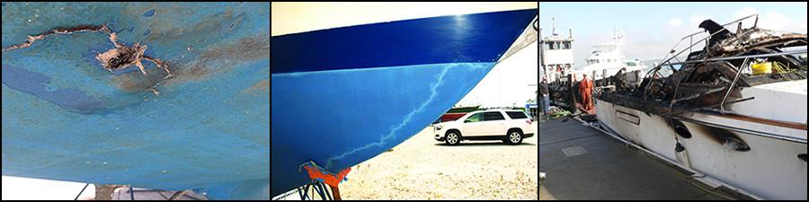 Danni da fulmine sulle barche