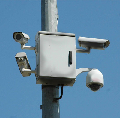 Lightning protection for security cameras