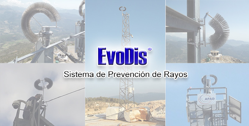 Protección contra rayos para cámaras cctv