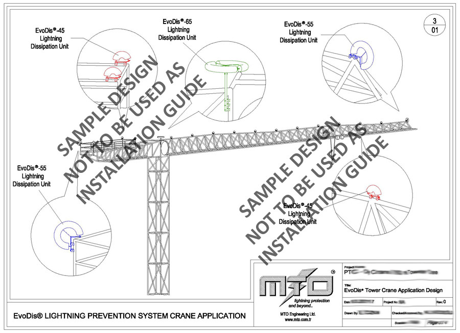 Tower Crane Lightning Protection // EvoDis System