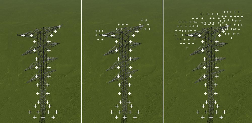 Power Transmission Tower Lightning Protection - EvoDis System