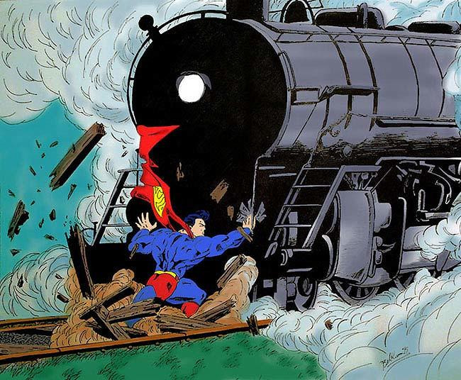 Nobody is Superman, get out of railway