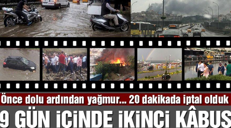 27 Temmuz Istanbul Dolu Sel Yıldırım