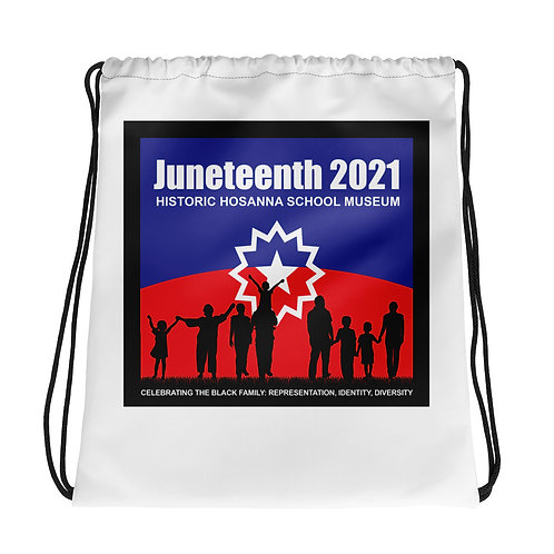 Juneteenth Drawstring bag