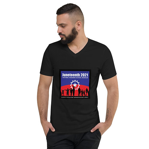 Juneteenth 2021 Unisex Short Sleeve V-Neck T-Shirt