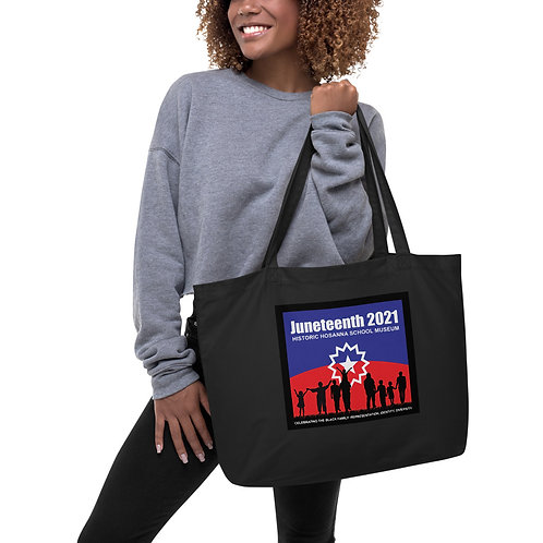 Juneteenth 2021 Large organic tote bag