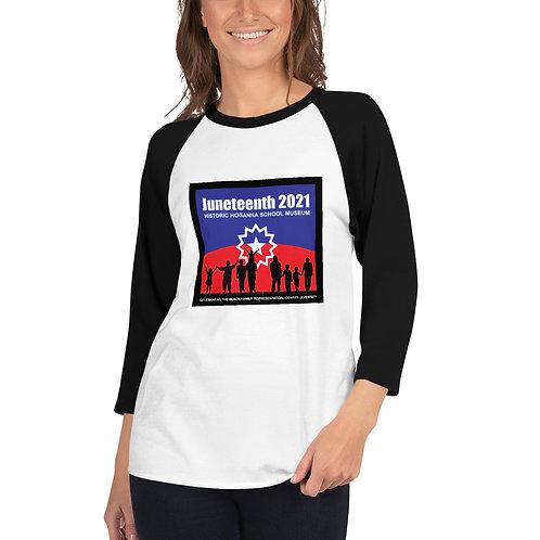 Juneteenth 2021 3/4 sleeve raglan shirt
