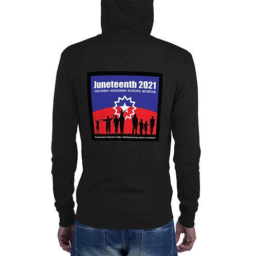 Juneteenth 2021 Unisex zip hoodie