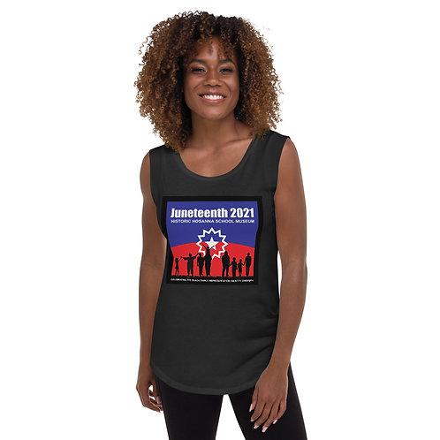 Juneteenth 2021 Ladies' Cap Sleeve T-Shirt
