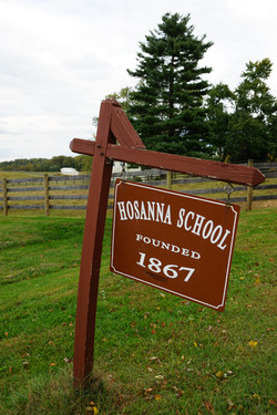 Hosanna School signage