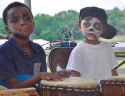 Juneteenth 2017 participants who got their faces painted