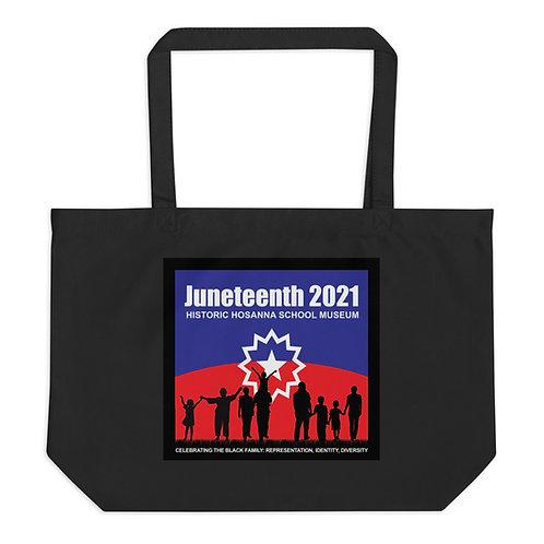 Juneteenth 2021 Large organic tote bag