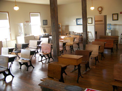 Inside the restored classroom of Hosanna School
