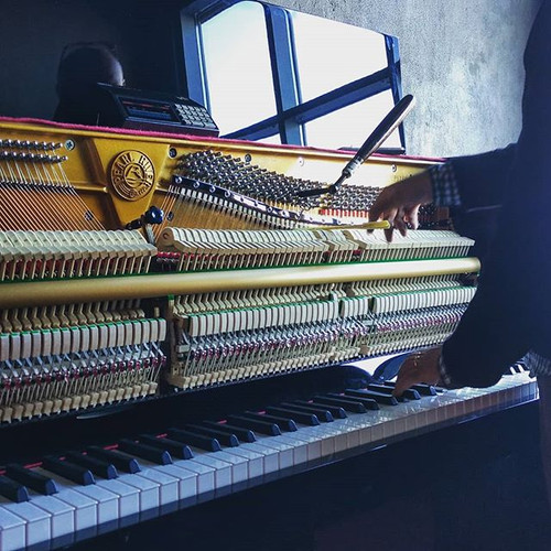 Our brand new #piano is getting its firs