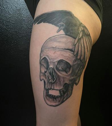 Crow Skull Thigh Piece
