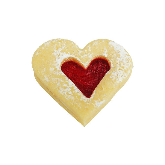 B124 Jam Heart Mini Conference Biscuit