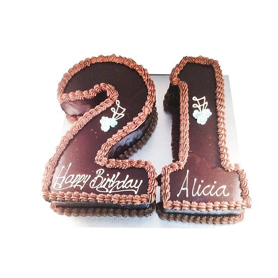 NC101 Number Cake