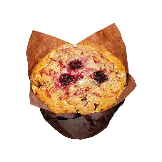 M303 Raspberry and White Chocolate Muffin