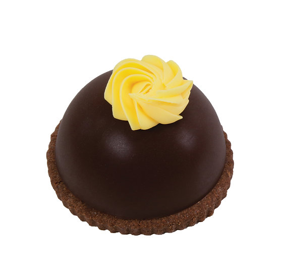 M102 Choc Orange Individual Mousse Dome