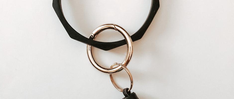 Silicone Bracelet Key Ring