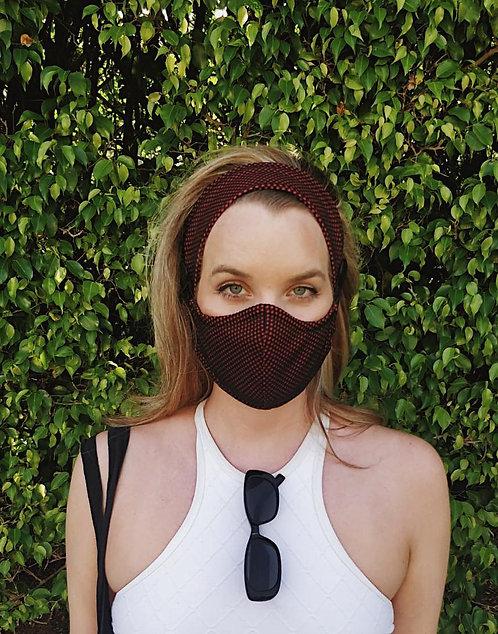 Honeycomb mask and headband set