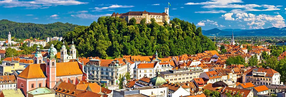 Castle on the hill Ljubljana Slovenia