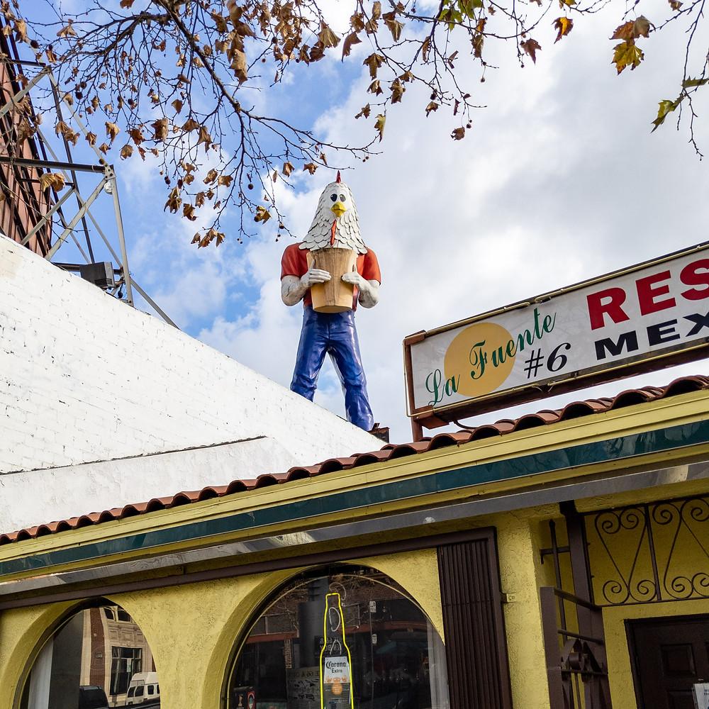 Chicken Boy Statue on Route 66