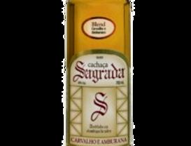 Cachaça Sagrada Ouro Carvalho e Amburana garrafa Herança