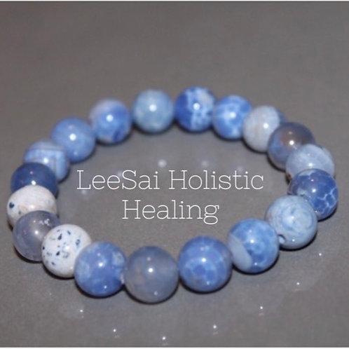 Reiki attuned Blue Aventurine bracelet