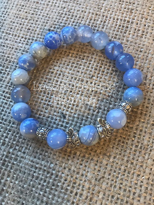 Blue Aventurine Reiki Attuned 10mm Chakra Healing Bracelet