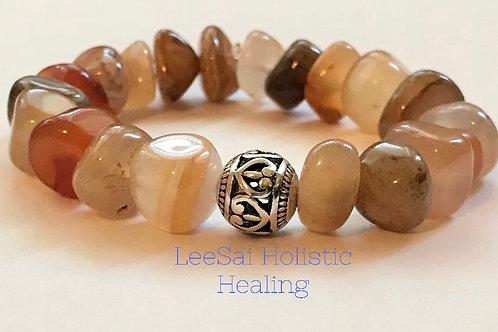 Carnelian Reiki attuned Chakra Healing Bracelet