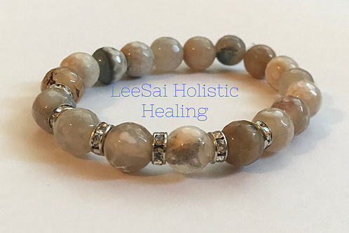 Agate Reiki attuned Chakra Healing Bracelet
