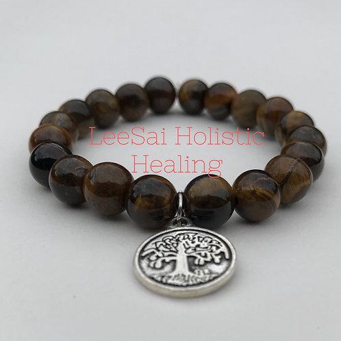 Tiger Eye Reiki attuned Chakra Healing Bracelet