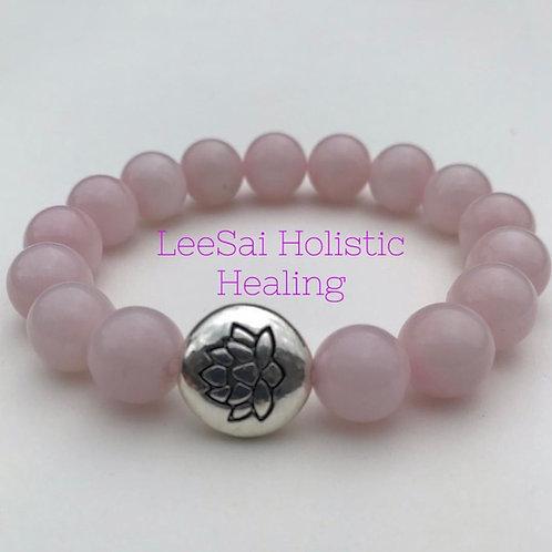 Rose quartz Reiki attuned Chakra Healing Bracelet