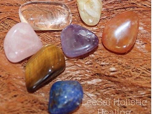Reiki attuned Chakra Healing Crystal Set