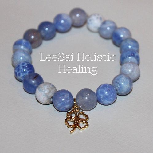 Blue Aventurine Reiki Attuned Chakra Healing Bracelet