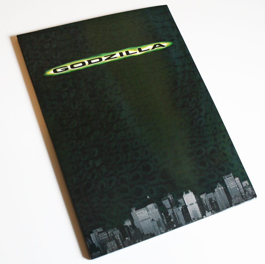 Godzilla folder brochure cover