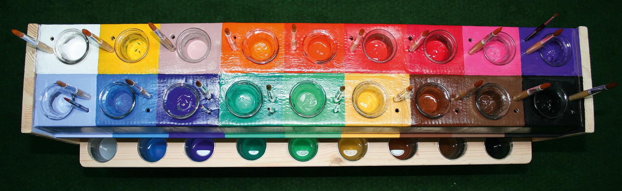 Maltisch / Paint palette table