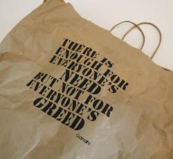 Gandhi paper shopping bag