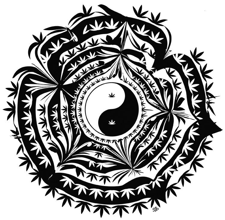 YinYang screen print artwork