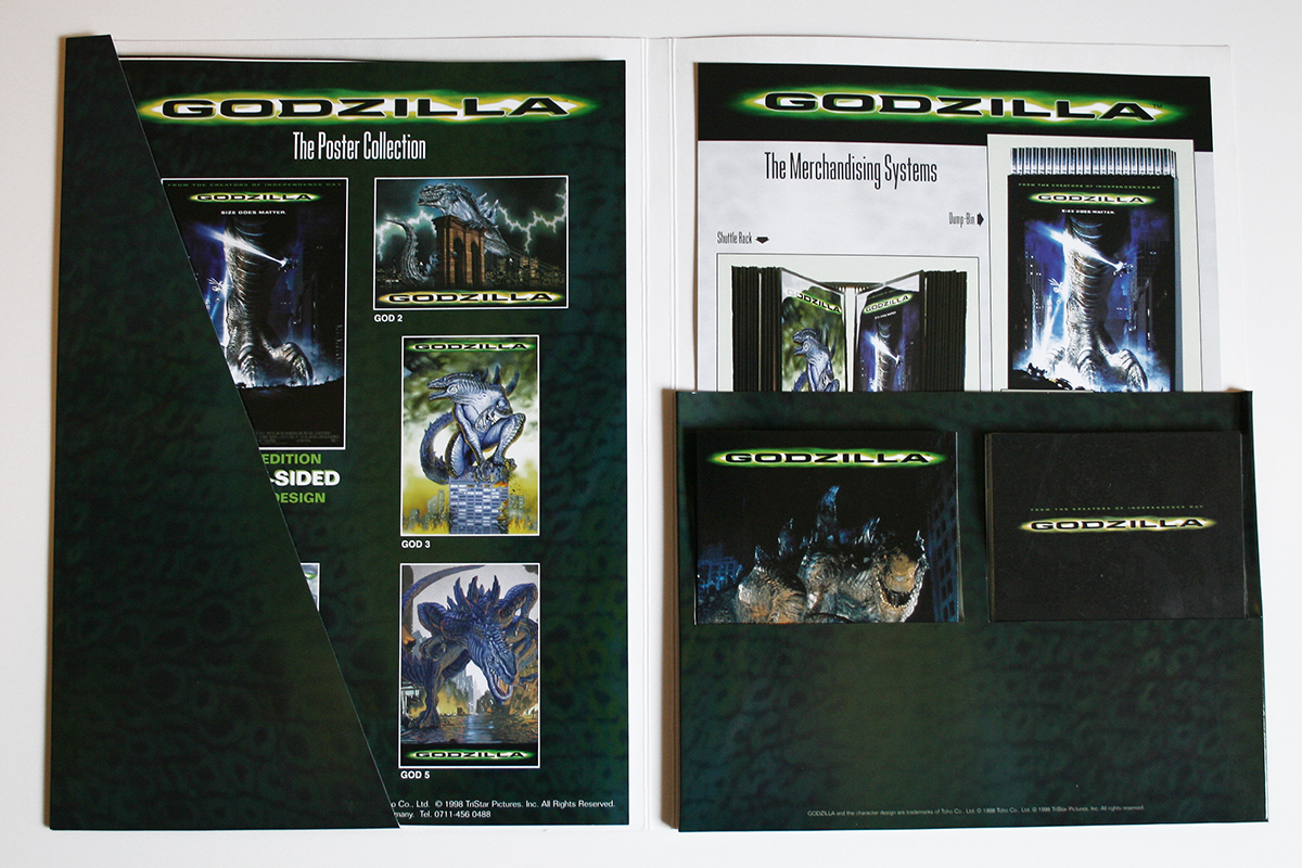 Godzilla folder brochure inside