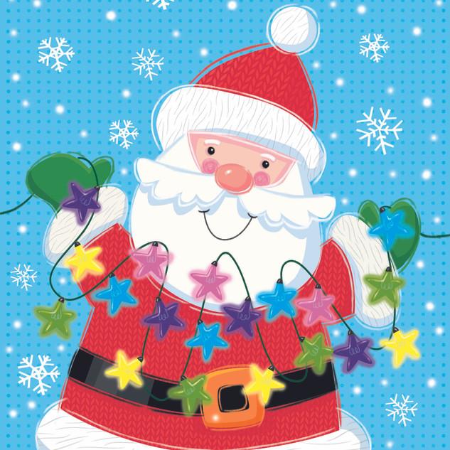 Santa with lights