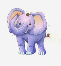 Baby elephant art.JPG