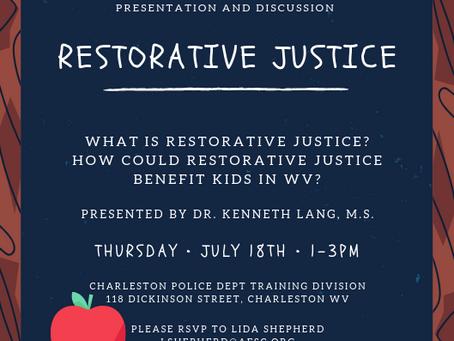 Restorative Justice Discussion & Presentation