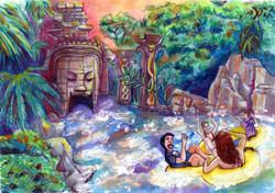 Angkor River Color