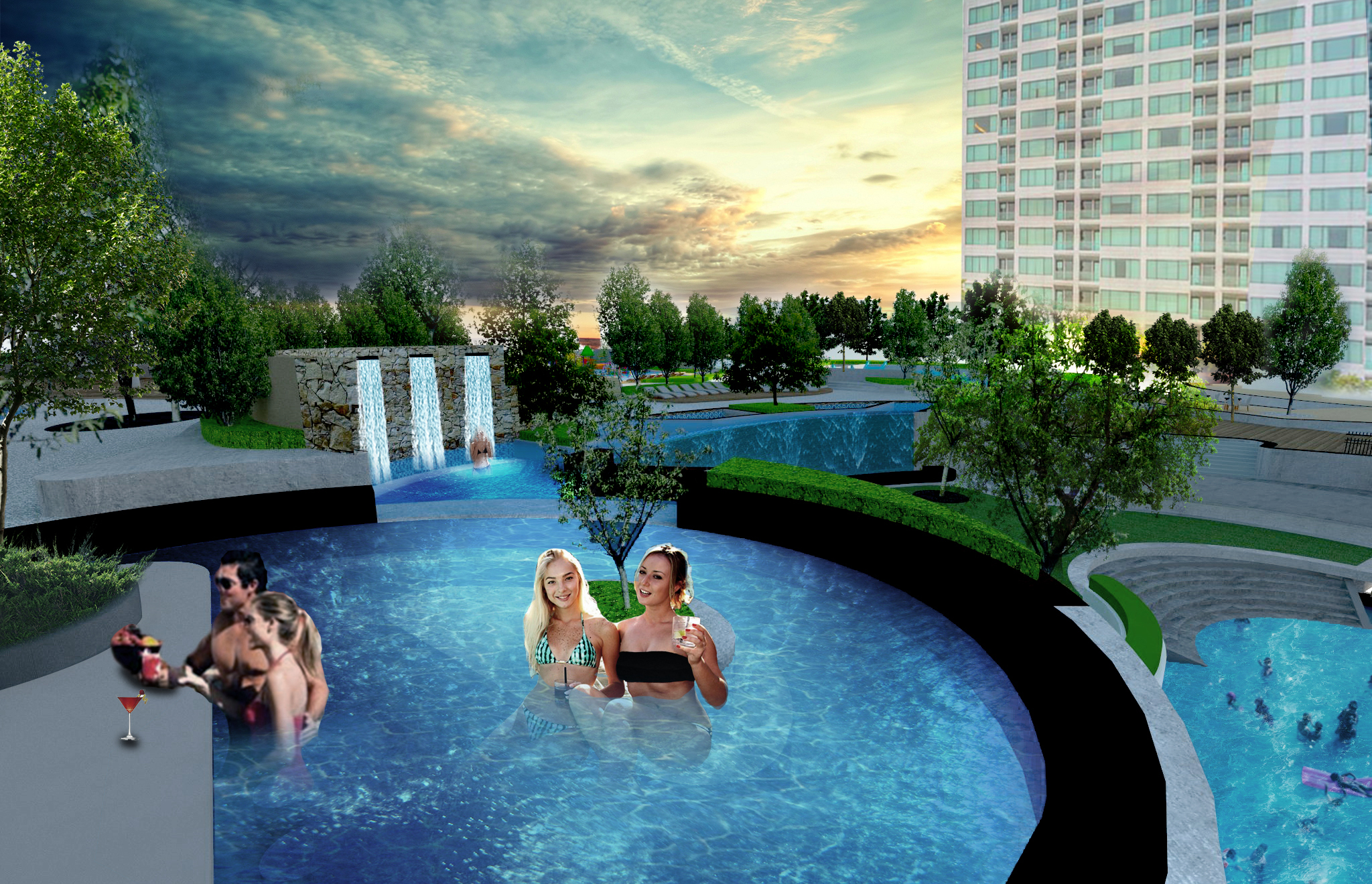 Scene 4 Spa pool Retouch