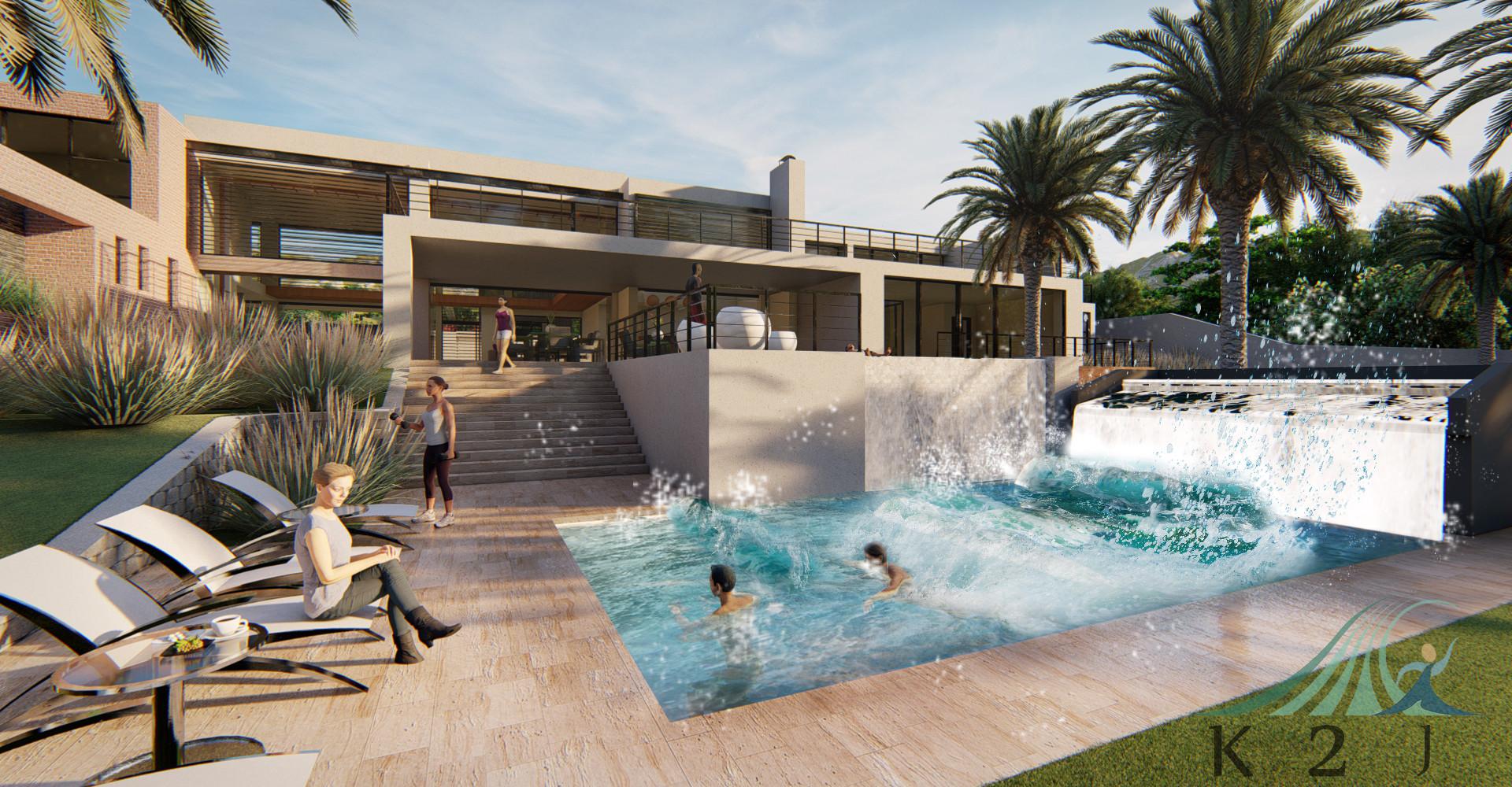 Wave pool ในโรงแรม