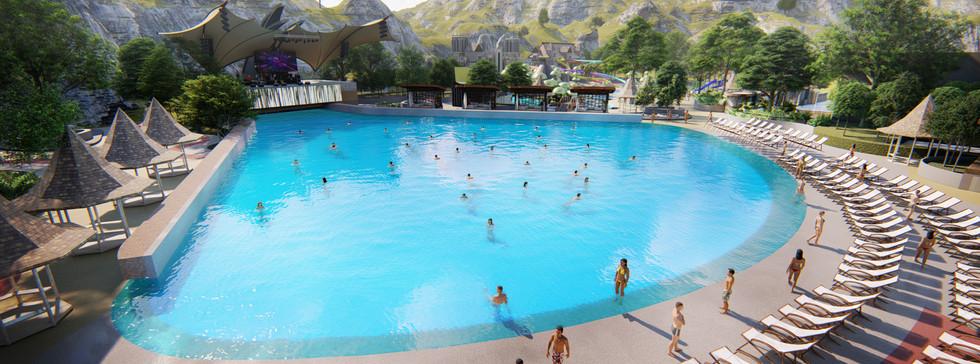 Wave pool ในสวนน้ำ