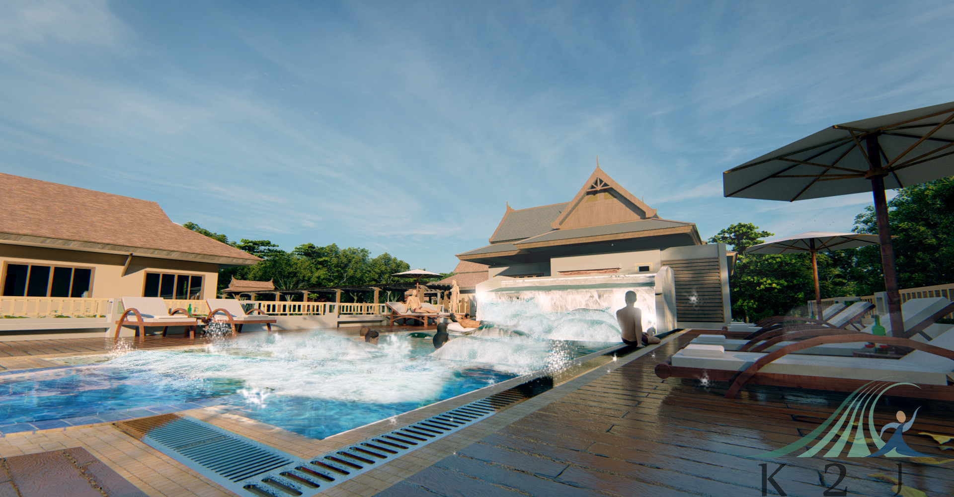 Wave pool ใน Club House
